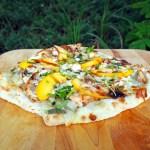 Chicken, Peach & Gorgonzola Pizza