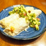 Chicken Enchiladas with Apple-Avocado Salsa