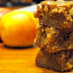 Glazed Maple Apple Blondies