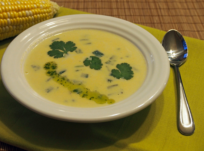creamy sweet corn and roasted poblano chowder  gravel  dine