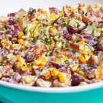 Warm Potato Salad with Bacon and Corn