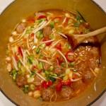 Meatball Miso Noodle Soup
