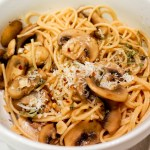 Garlic Mushroom Whole Wheat Pasta