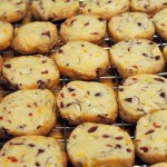 Almond Orange Craisin Shortbread Cookies