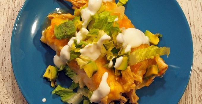 Chicken & Corn Enchiladas
