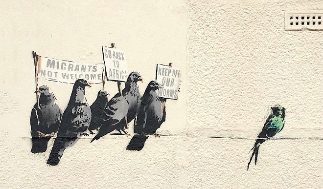 Banksy Art Removed