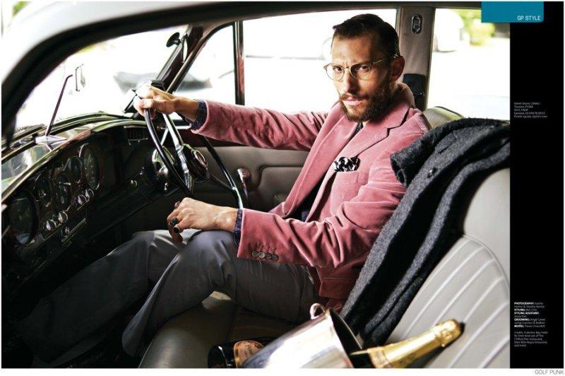 Trevor Cross photoshoot for GolfPunk Magazine