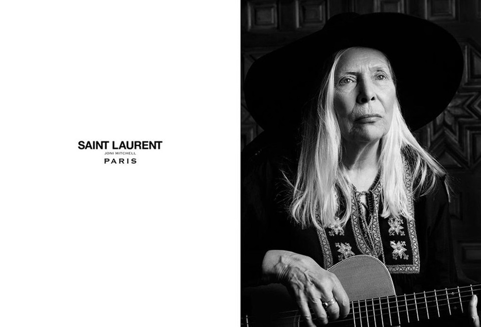 Joni Mitchell for Saint Laurent Campaign