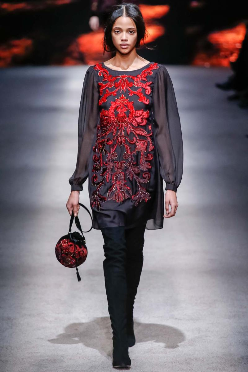 Alberta Ferretti Ready to Wear FW 2015 LFW (12)