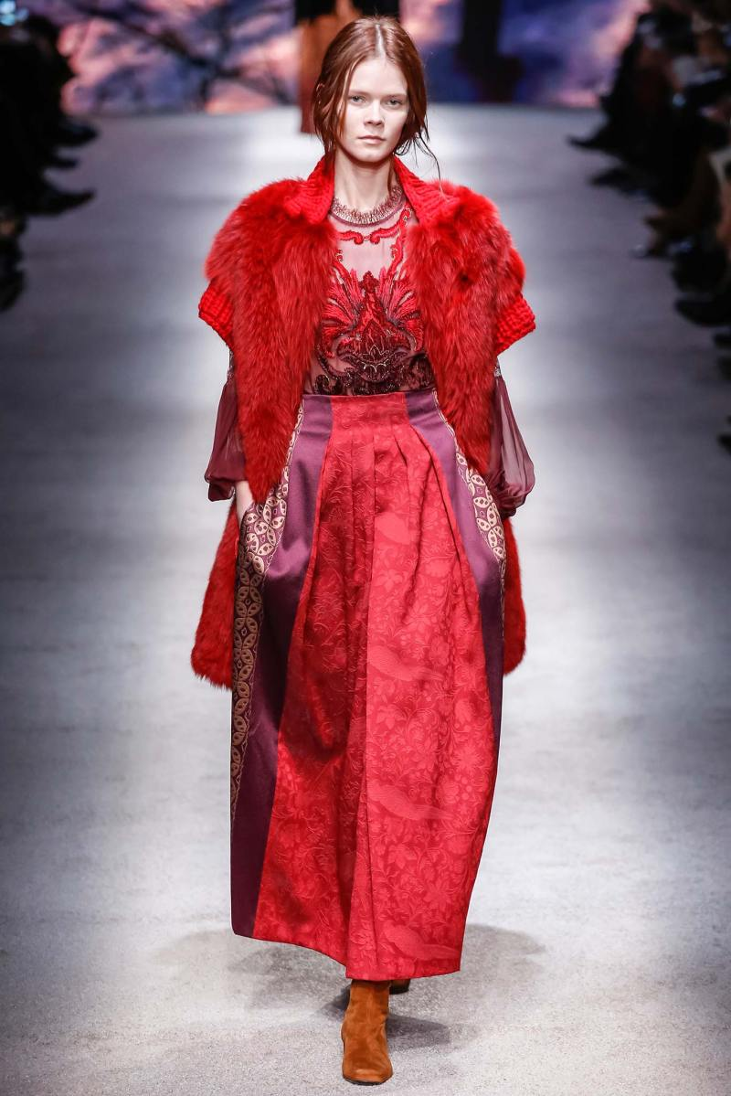 Alberta Ferretti Ready to Wear FW 2015 LFW (16)