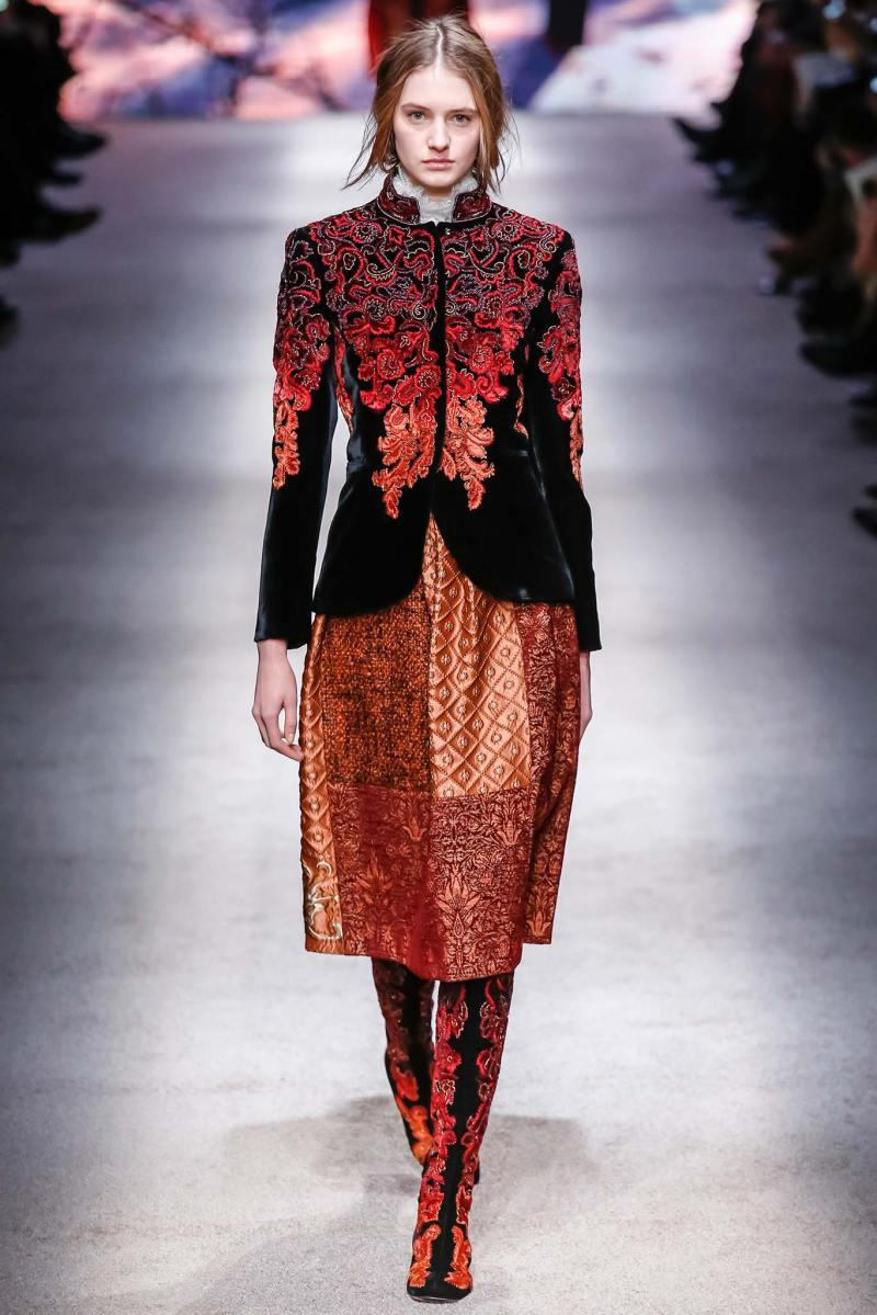 Alberta Ferretti Ready to Wear FW 2015 LFW (17)
