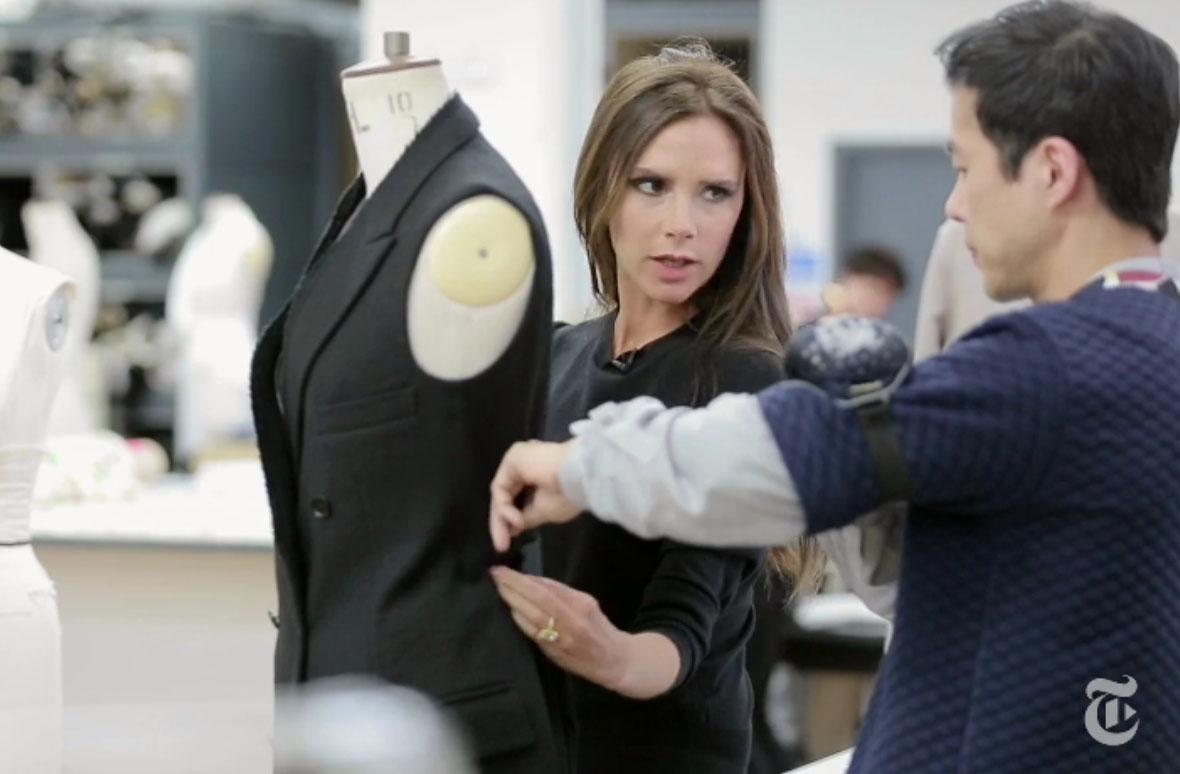 Victoria Beckham in studio nyt