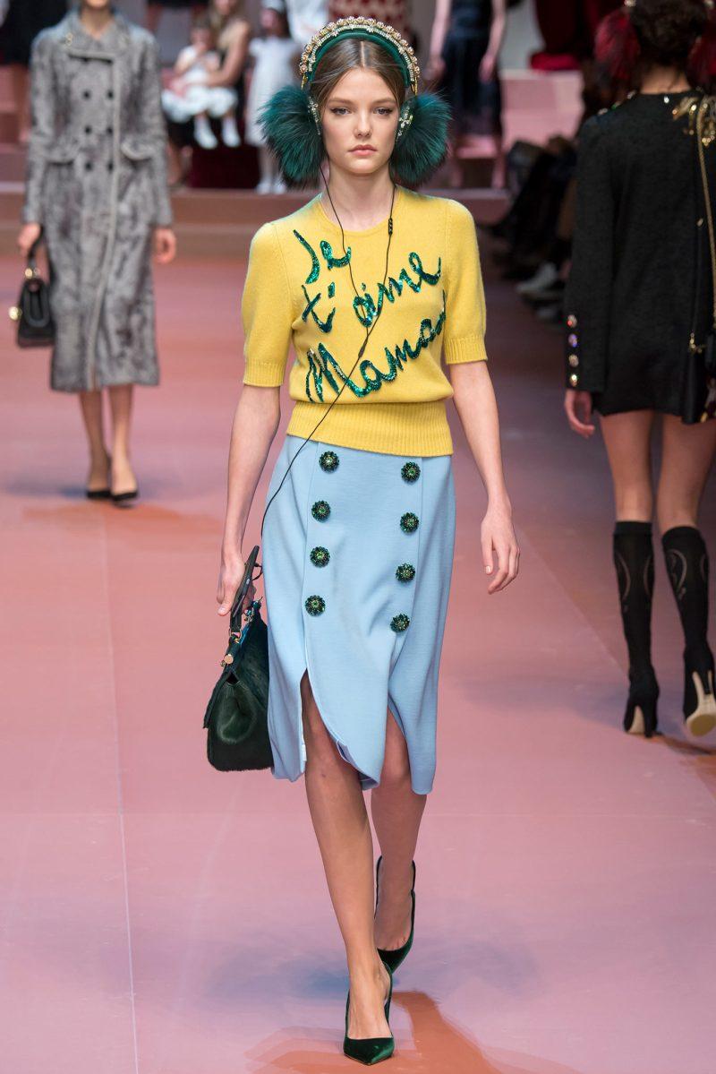 Dolce & Gabbana Ready to Wear FW 2015 MFW (24)
