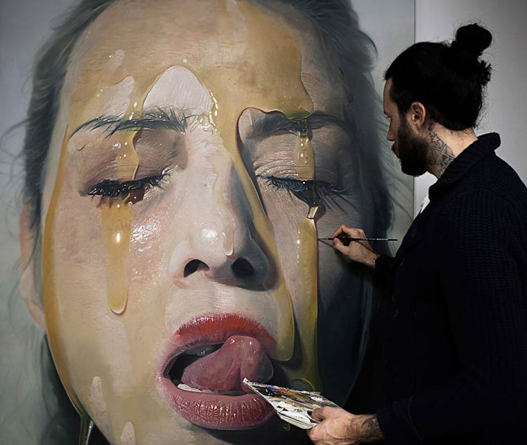 Sticky Hyperrealism Portraits by Mike Dargas (2)