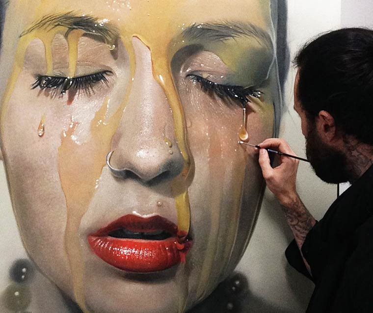 Sticky Hyperrealism Portraits by Mike Dargas (3)