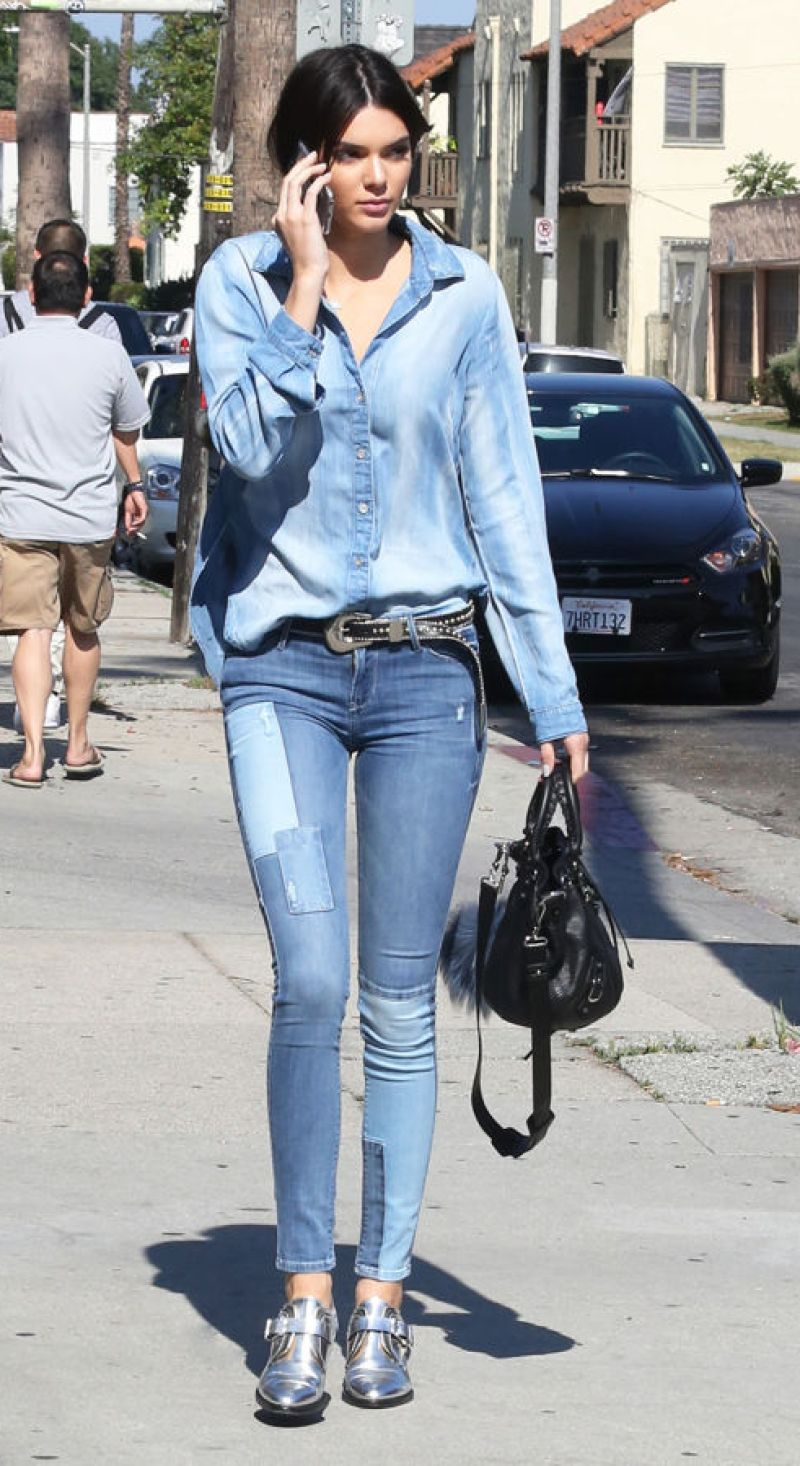 Kendall in all denim