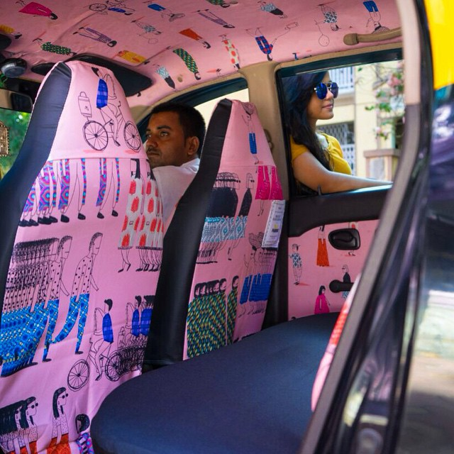 Taxi Fabric, A New Form of Exhibiting Art (8)