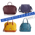 Transitional Bags, from Summer to Fall