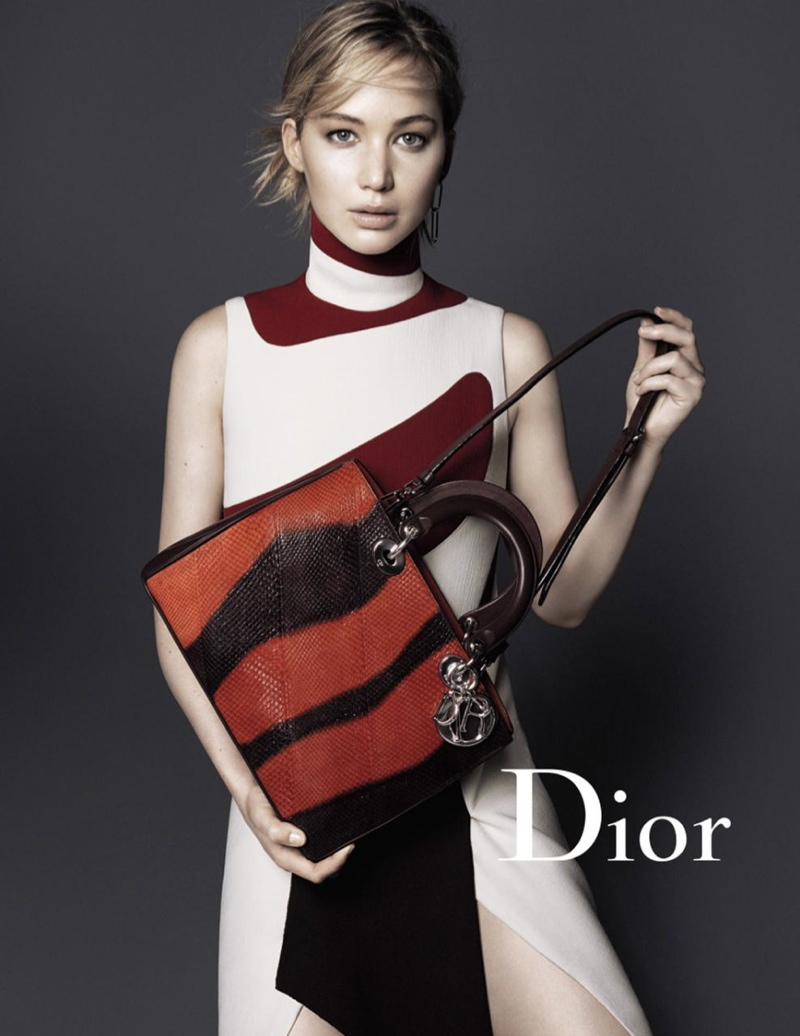 Jennifer Lawrence in Dior's Latest Handbag Campaign