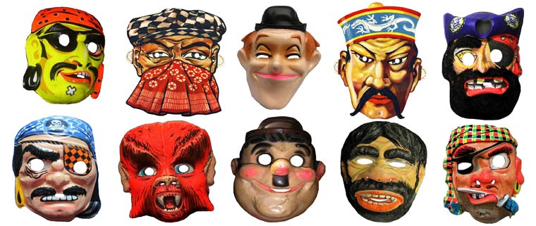 Massive Vintage Halloween Mask Collection (13)