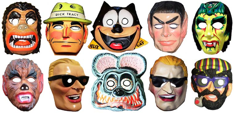 Massive Vintage Halloween Mask Collection (15)