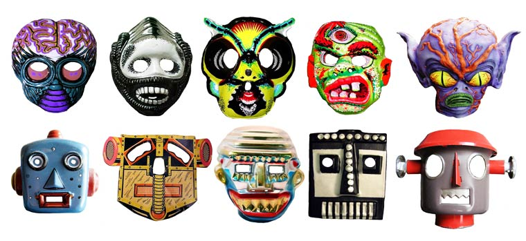 Massive Vintage Halloween Mask Collection (4)