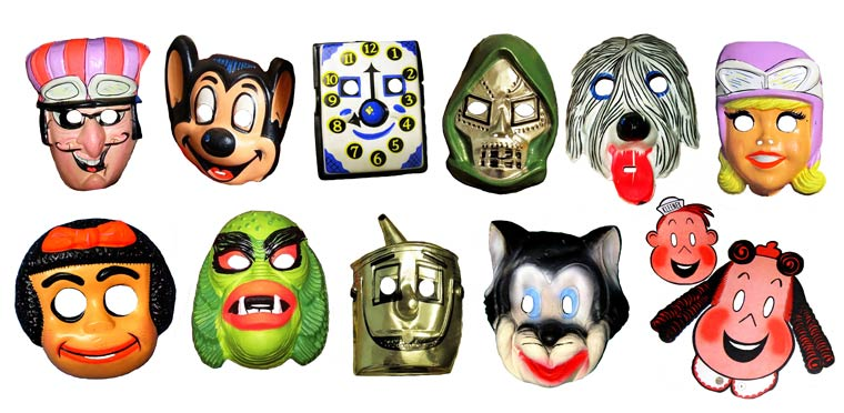 Massive Vintage Halloween Mask Collection (7)