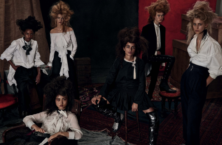 Emmy Krüger, Eva Berzina, Jing Wen, Karly Loyce, Luping Wang & Steph Smith by Giampaolo Sgura (1)