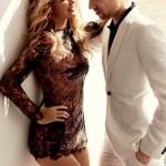 Gigi Hadid & Domhnall Gleeson by Mario Testino