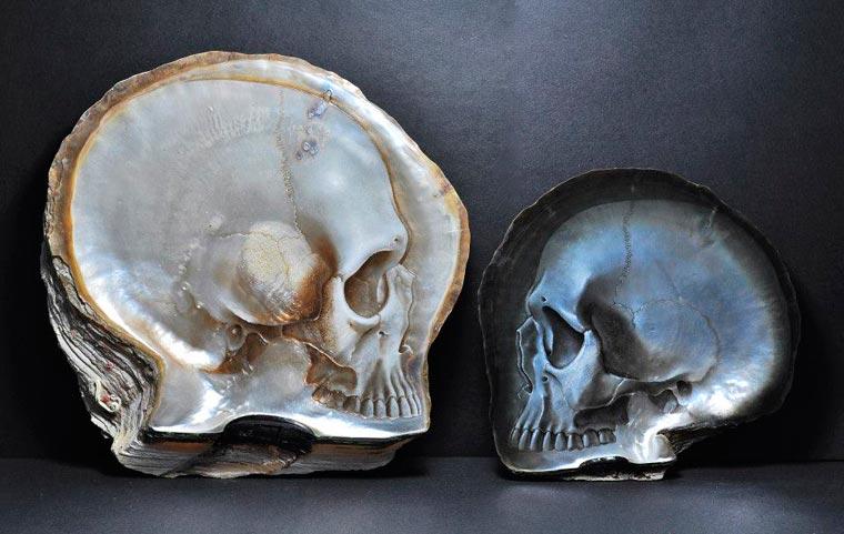 Skull Carved Seashells by Gregory Halili (3)