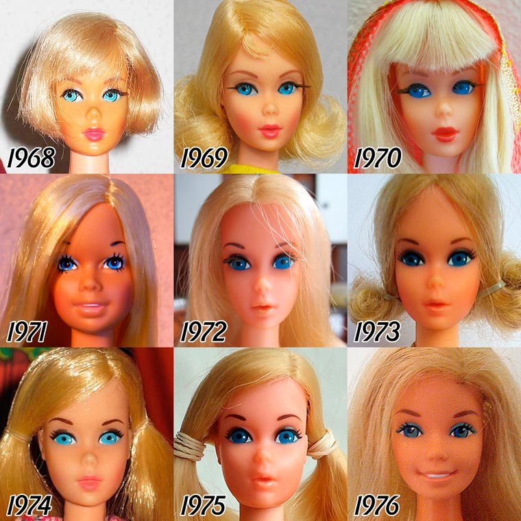 The Evolution of BARBIE from 1959 - 2015 (2)