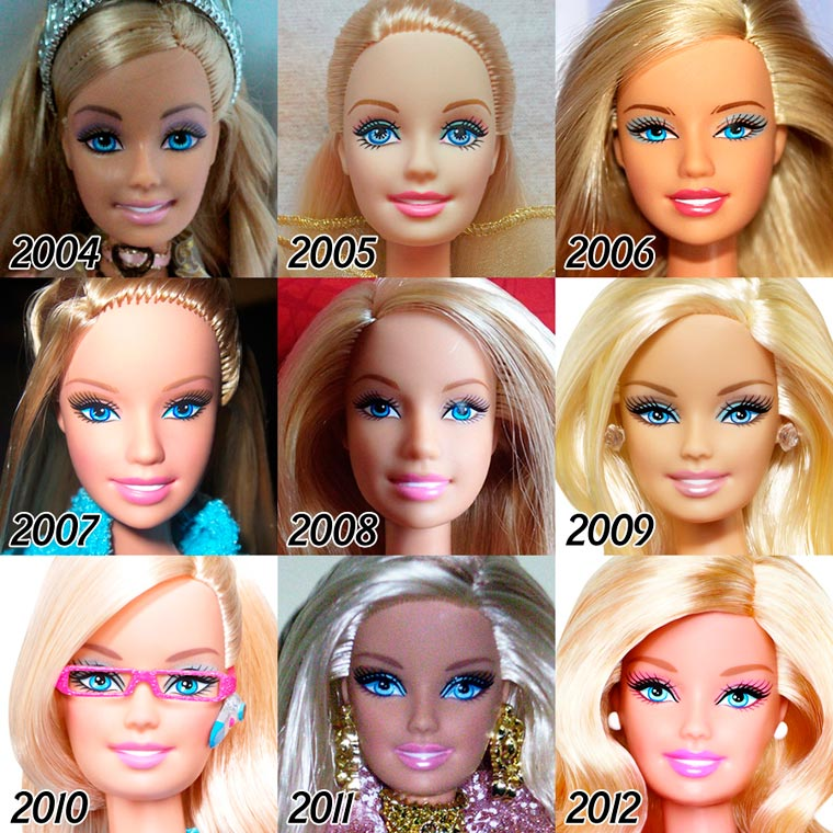 The Evolution of BARBIE from 1959 - 2015 (6)