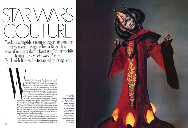 Throwback Editorial Star Wars Couture in Vogue April 1999 (1)