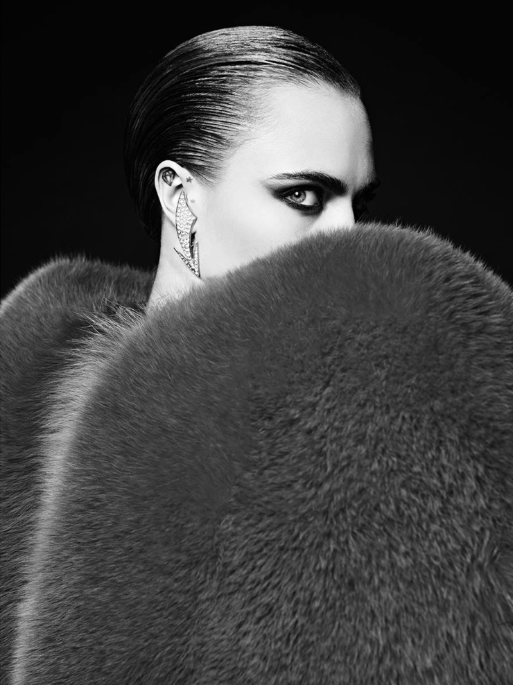 Cara Delevingne for Saint Laurent La Collection De Paris FW 2016 (1)