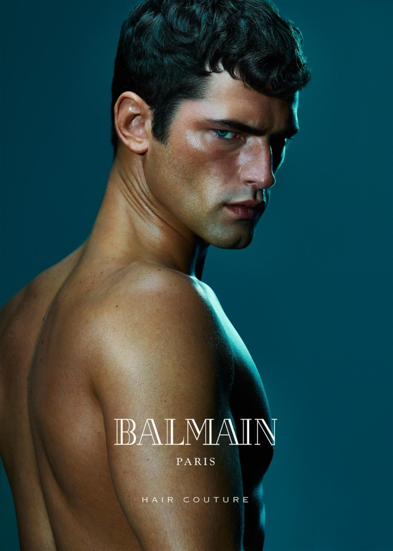 Balmain Hair Couture SS 2016 ft. Sean O'Pry & Noemie Lenoir (1)