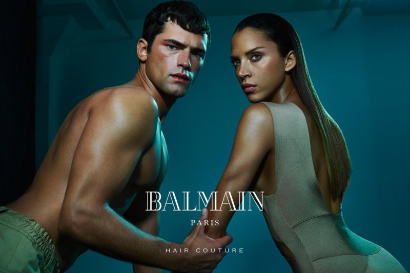 Balmain Hair Couture SS 2016 ft. Sean O'Pry & Noemie Lenoir (3)