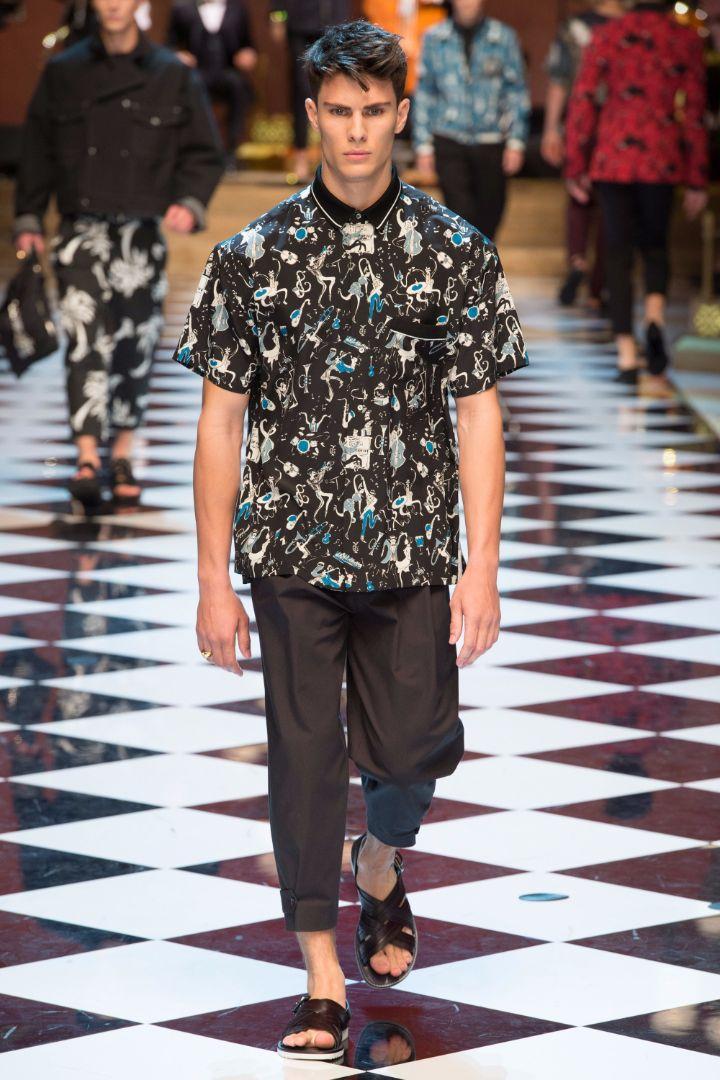 Dolce & Gabbana Menswear SS 2017 Milan (22)