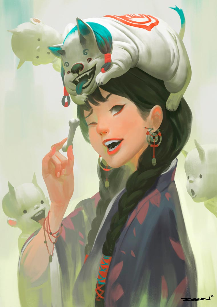 Fantasy Portait Illustrations by Zeen Chin (13)