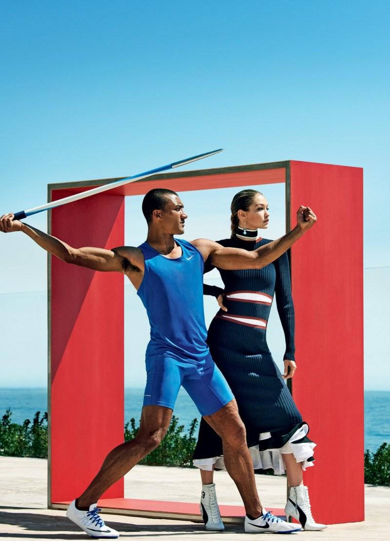 Gigi Hadid & Ashton Eaton by Mario Testino (5)