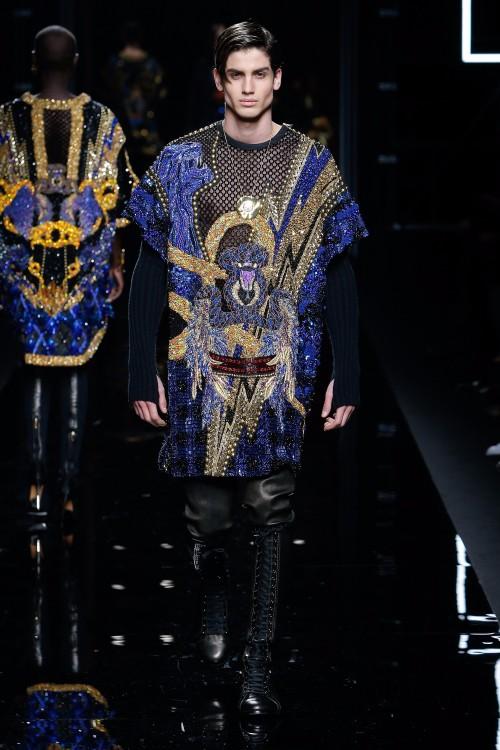 Balmain Menswear FW 2017 Paris77