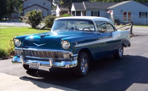 one of our classic car restoration projects in Middle, Tennessee a 1956 CHevy BelAir