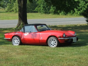 one of our classic car restoration projects in Middle, Tennessee a 1974 Triumph Spitfire