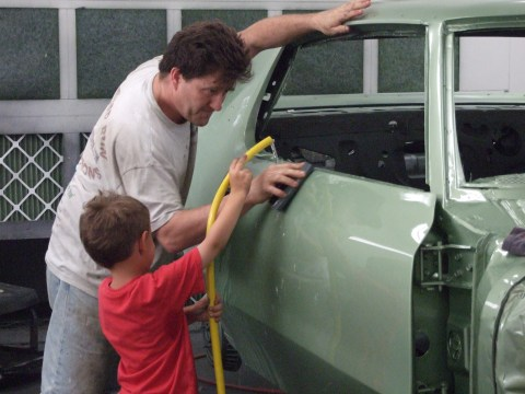 Award Winning Antique Auto Restorations by Mark Seybold working with son George