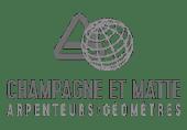 Logo Champagne et Matte | Arpenteurs-Géomètres