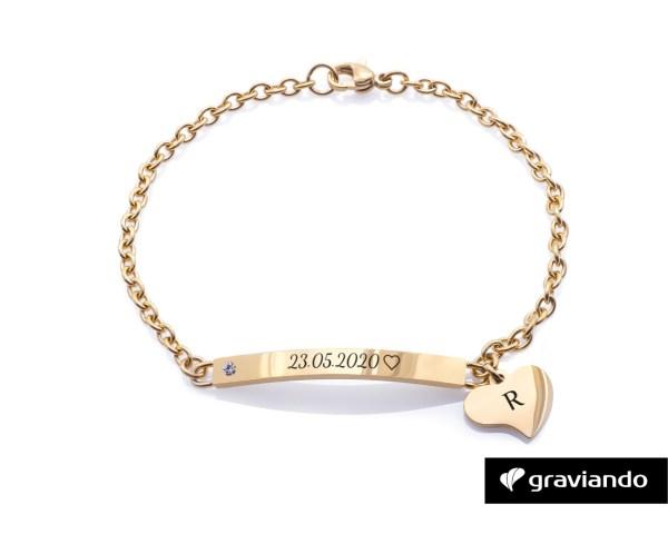 Armband mit Gravur Stein Graviando