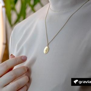 Halskette-Kreis mit Gravur Gold Graviando