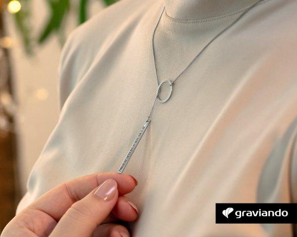Halskette-Kreis mit Gravur Graviando
