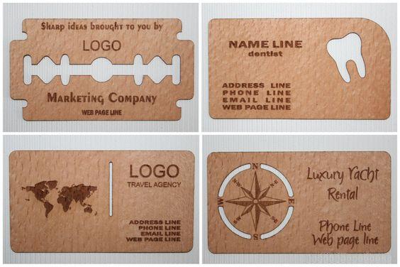 Виготовлення візиток з дерева, шпона та картону