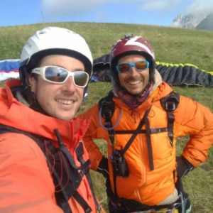 Zian et Laurent équipe Gravity-parapente