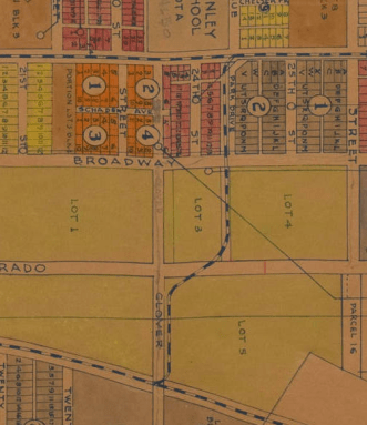 1920s - Santa Monica city tract map